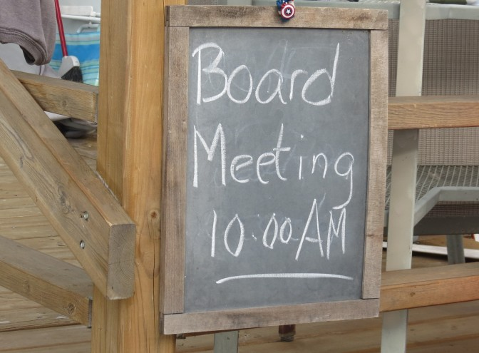 "Labor Day weekend ""Board Meeting"""