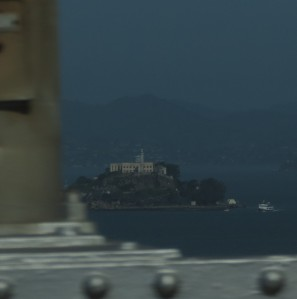 Alcatraz from Golden Gate Bridge