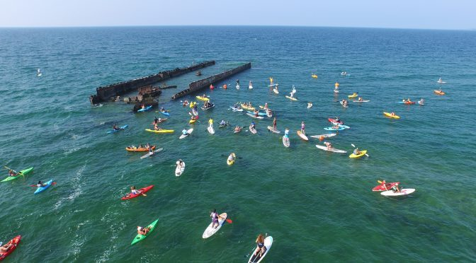 Once around the wreck annual paddle parade