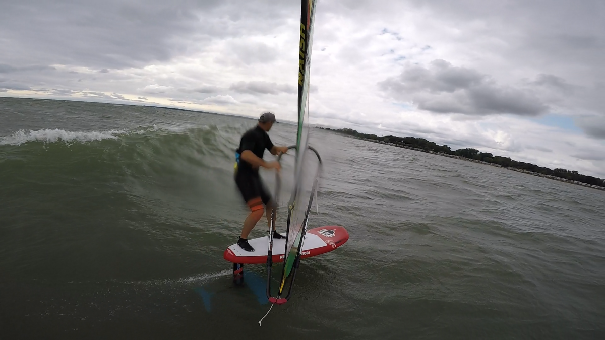 Windsurfing Wave Foiling