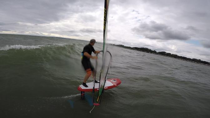 Windsurfing Wave Foiling