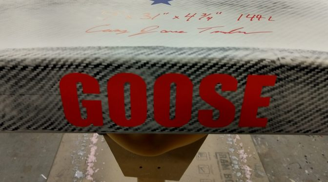"Board Room: New TopGun ""GOOSE"" Big guy foil board"
